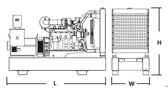 High Efficient FG WILSON Generator Set 4 Cylinder 12KW