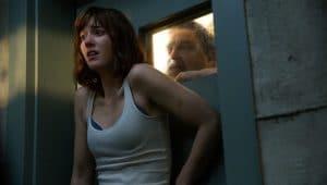 John Goodman as Henry; Mary Elizabeth Winstead as Michelle in 10 CLOVERFIELD LANE; by Paramount