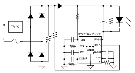 sy22637n1fcc Dimmable, high Efficiency Linear Driver With