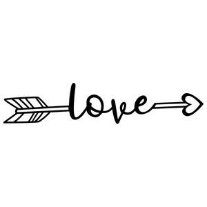 Download Silhouette Design Store - View Design #199300: love arrow