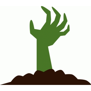 Silhouette Design Store View Design #98310 Zombie Hand
