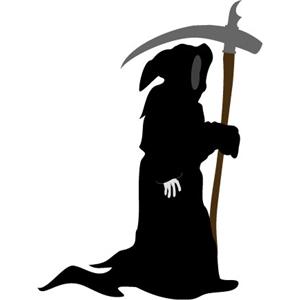 Silhouette Design Store View Design #4040 Grim Reaper