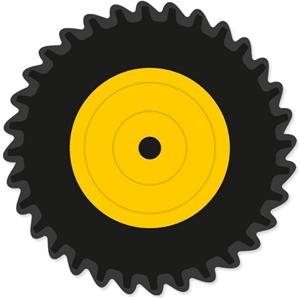 Silhouette Design Store View Design #14370 Tractor Tire