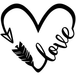 Silhouette Design Store View Design #271502 Love Heart