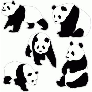Silhouette Design Store View Design #77112 Panda Bear Set