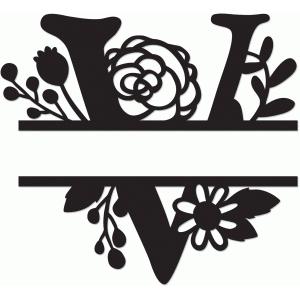 Silhouette Design Store View Design #64642 Split Monogram V