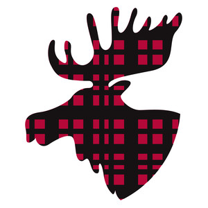 Silhouette Design Store View Design #239872 Plaid Moose