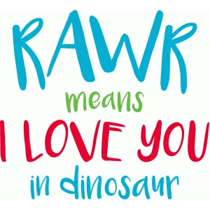 Download Silhouette Design Store - View Design #85903: rawr means i ...