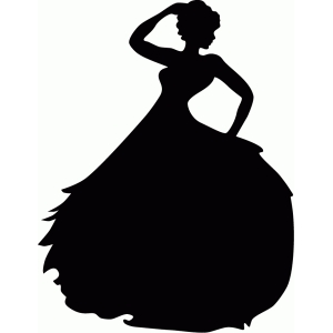 Silhouette Design Store View Design #42963 Dancing Lady
