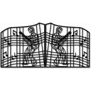 Silhouette Design Store View Design #45274 Graceland Gates