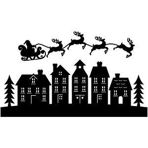 Silhouette Design Store View Design 105715 Santa