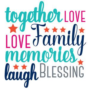 Silhouette Design Store View Design #151445 Family Word Art
