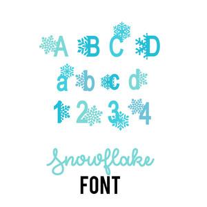 Silhouette Design Store View Design #224175 Snowflake Font
