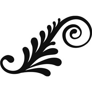 Silhouette Design Store View Design #34685 Leafy Swirl
