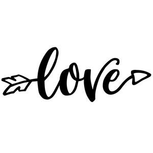 Download Silhouette Design Store - View Design #240316: love arrow