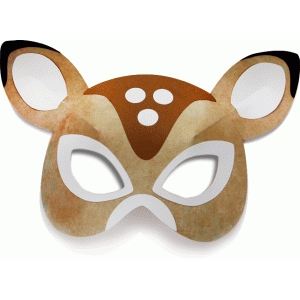 Silhouette Design Store View Design #71836 3d Deer Mask