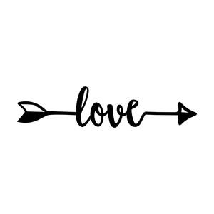 Download Silhouette Design Store - View Design #179827: love arrow