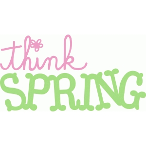 Silhouette Design Store View Design #56037 Think Spring