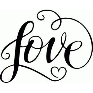Download Silhouette Design Store - View Design #93147: love script