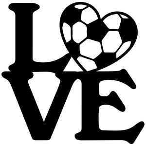 Download Silhouette Design Store - View Design #126608: soccer love ...