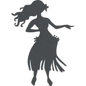 Silhouette Design Store View Design #1408 Hula Dancer