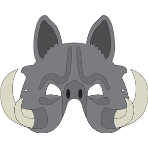Silhouette Design Store View Design #32909 Warthog Mask