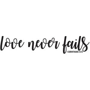 Love Never Fails Free Printable wedding t Love never