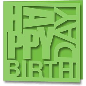 Silhouette Design Store View Design #36069 Card Happy