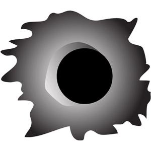 Silhouette Design Store View Design #14399 Bullet Hole Pc
