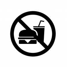 飲食禁止|シルエット イラストの無料ダウンロードサイト「シルエットAC」