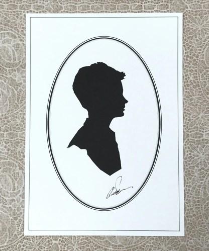 Head of a boy in silhouette