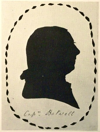 Fairly amateur silhouette of a man with a hand-drawn oval border