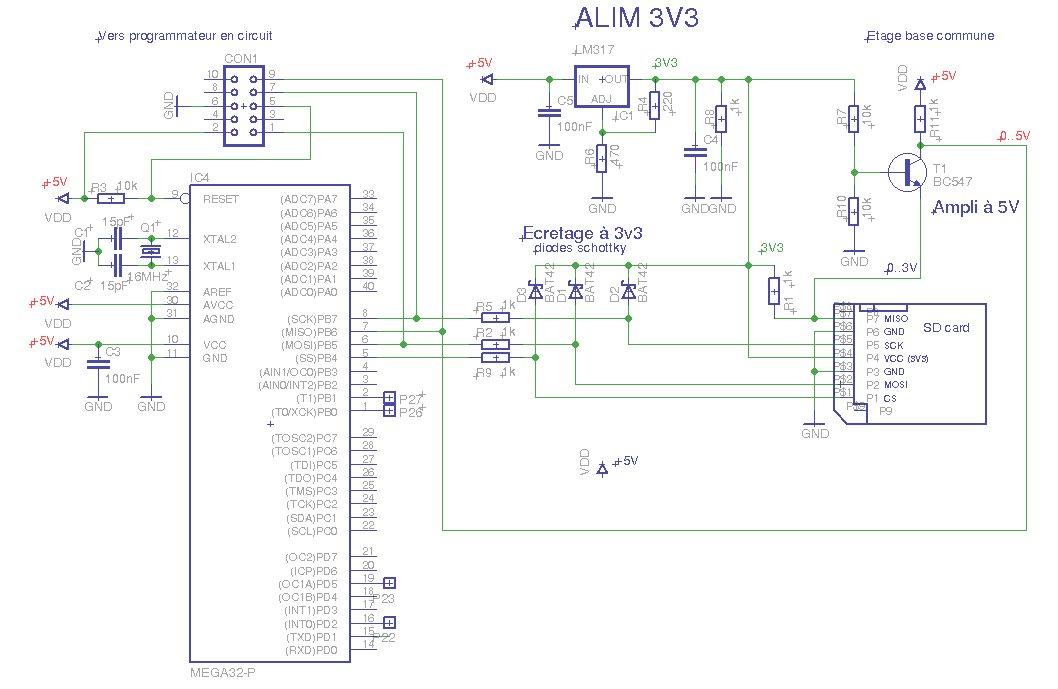 Comment relier électriquement une SD card à un ATmega