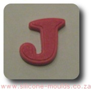 Alphabet Silicone Mould Letter J