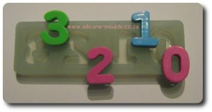 Number Set Silicone Mould