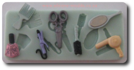 Glamour Set for Girls Silicone Mold