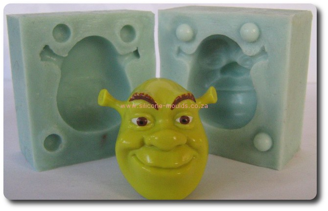 3 D SHrek Face-Sil