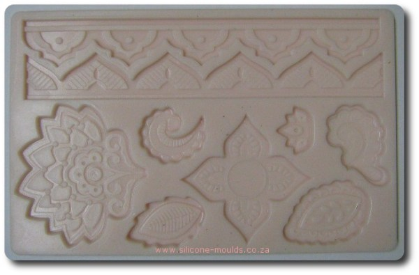 Leaf and Border Theme Silicone Mold