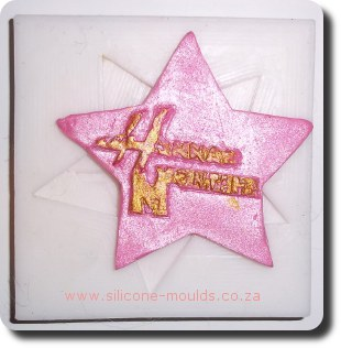 Hannah Montana Star Silicone Moulds