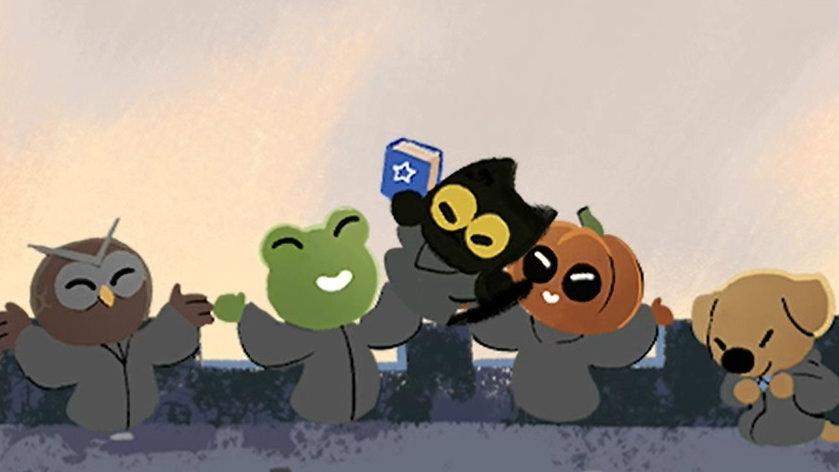 Halloween Google Doodle Brings Back Magic Cat Academy - Siliconera