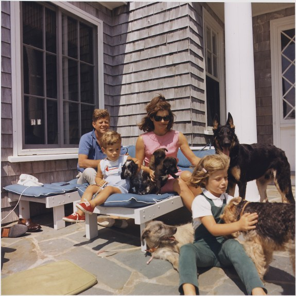 Kennedy Family with Dogs During a Weekend at Hyannisport, 08/14/1963
