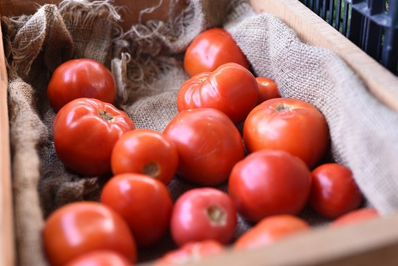 Tomatoes are considered a fruit or vegetable depending on context. According to Encyclopedia Britannica, tomatoes are a fruit labeled in grocery stores as a vegetable due to (the taste) and nutritional purposes.