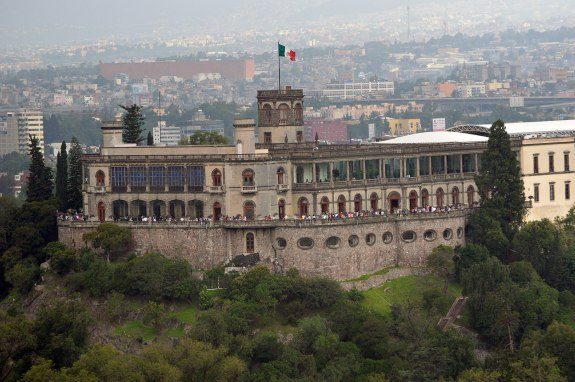 Chapultepec Castle on top of Chapultepec Hill