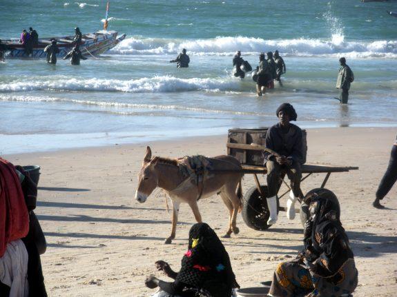 Scene at the beach in Nouakchott, Mauratania