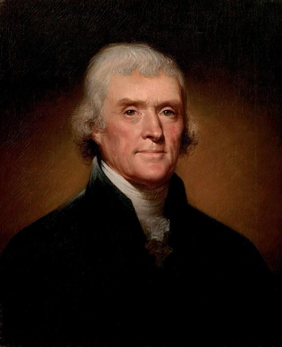 Thomas Jefferson, the third President of the United States.