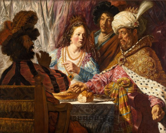 The Feast of Esther (Feest van Esther, 1625) by Jan Lievens, North Carolina Museum of Art.