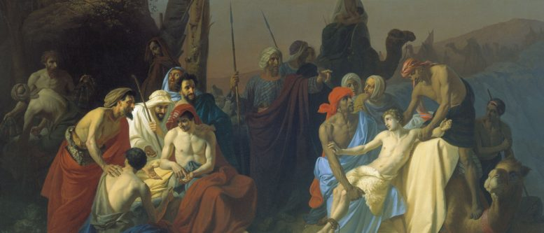 The children of Jacob sell their brother Joseph by Konstantin Flavitsky, 1855. Judah was the one who suggested that Joseph be sold, rather than killed.