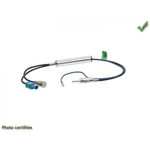 ADAPTATEUR D ANTENNE DOUBLE 1 FAKRA 1 ISO AUDI A3 05/2003