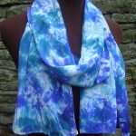 hand painted silk scarf blue purple fionastolze silkandart