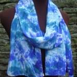 hand painted silk scarf blue purple fionastolze silkandart